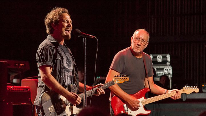 Eddie Vedder and Pete Townshend teamed to celebrate the Who and raise money for the band's cancer charity in Chicago. Barry Brecheisen