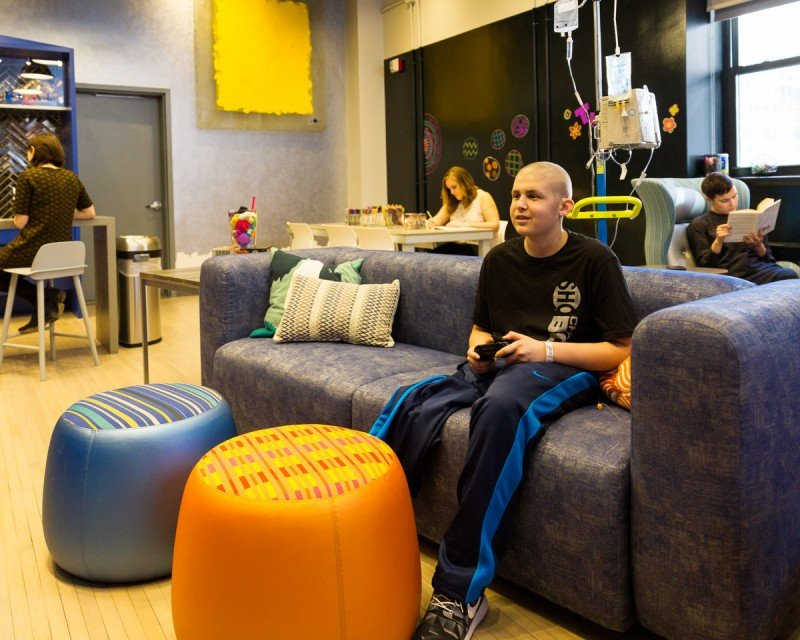 Teenagers and young adults patients at MSK are invited to use The Lounge, part of the newly launched Teen and Young Adult Program at MSK. (Photo via www.mskcc.org)